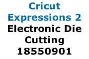 Cricut Expressions 2 Electronic Die Cutting 18550901